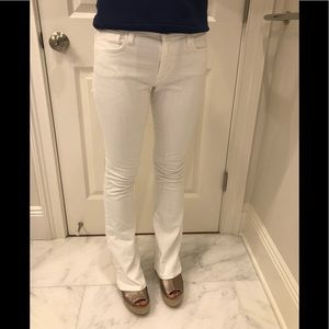 Joe's Jeans White MidRise Boot Cut Jeans